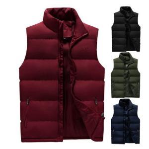 ダウンベスト 中綿ベスト 防寒ベスト フロントサイドポケット 暖かい 防風 防寒 通勤 通学 ノースリーブ 大きいサイズ おしゃれ|locoprime