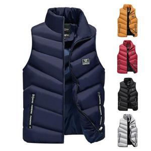 中綿ベスト ダウンベスト ジャケット ダウンベスト ベスト ファッション ライトアウター 防寒 防風 あったか 無地 厚手 大きいサイズ|locoprime