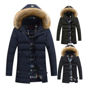 ダウンジャケット メンズ 人気 ジャンパー 中綿コート 厚手フード付き3色 アウター ブルゾン 防寒 カジュアル|locoprime