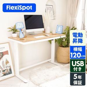 FlexiSpot スタンディングデスク オフィスデスク パソコンデスク 高さ調節 電動昇降デスク ...