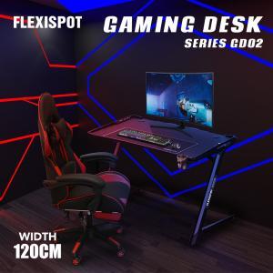 【在庫一掃】FLEXISPOT ゲーミングデスク パソコンデスク Z型デザイン 天板120 テーブル...