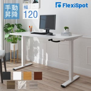 FlexiSpot スタンディングデスク オフィスデスク 高さ調節 手動式 昇降デスク 昇降テーブル...