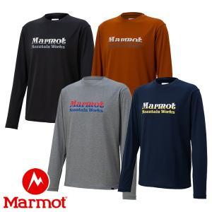マーモット(Marmot) MMWロゴ ロングスリーブ クルー (メンズ/長袖 Tシャツ) TOMOJB51|lodge-premiumshop