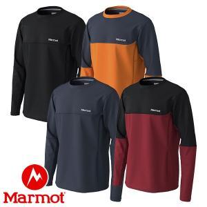 マーモット(Marmot) ヒートナビ メッシュ ロングスリーブ クルー (メンズ/長袖 Tシャツ) TOMOJB56|lodge-premiumshop