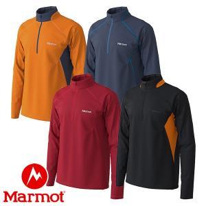 マーモット(Marmot) ヒートナビ メッシュ ロングスリーブ ジップ (メンズ/長袖 ジップシャツ) TOMOJB68|lodge-premiumshop