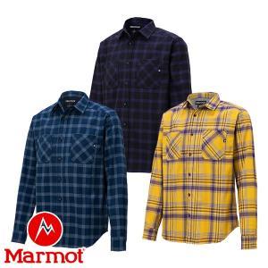 マーモット(Marmot) プレイド ドライ ロングスリーブ シャツ (メンズ/長袖 ボタンシャツ) TOMOJB75 lodge-premiumshop
