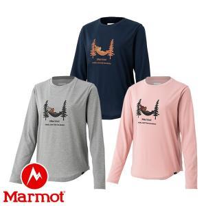 マーモット(Marmot) W's スリープ マーモット ロングスリーブ クルー (レディース/長袖 Tシャツ) TOWOJB50|lodge-premiumshop