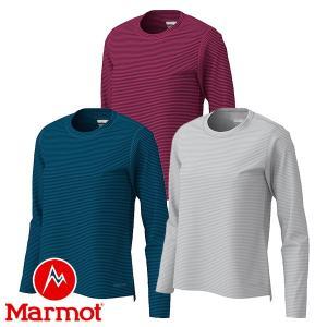 マーモット(Marmot) W's ヒートナビ ボーダー ロングスリーブ クルー (レディース/長袖 Tシャツ) TOWOJB56|lodge-premiumshop