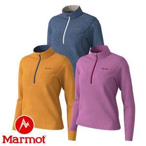 マーモット(Marmot) W's クライムウール ストレッチ ロングスリーブ ジップ (レディース/長袖 ジップシャツ) TOWOJB66|lodge-premiumshop