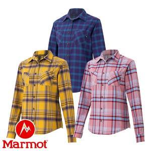 マーモット(Marmot) W's プレイド ドライ ロングスリーブ シャツ (レディース/長袖 ボタンシャツ) TOWOJB75 lodge-premiumshop