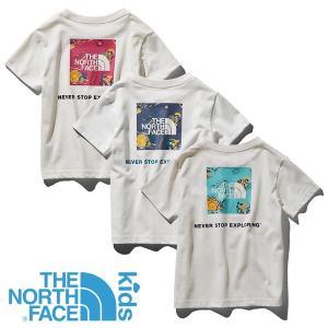 ノースフェイス(THE NORTH FACE) キッズ ショートスリーブ スクエア ロゴ ジョシュア ティー (キッズ 子供用/半袖 Tシャツ) NT|lodge-premiumshop