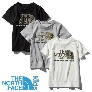 ノースフェイス(THE NORTH FACE) キッズ ショートスリーブ カモ ロゴ ティー (キッズ 子供用/半袖 Tシャツ) NTJ31992|lodge-premiumshop