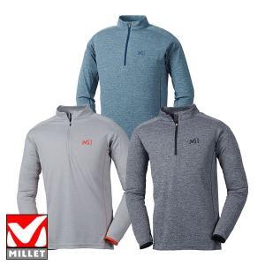 ミレー(MILLET) EIRA ZIP LS (メンズ/長袖 ジップシャツ) MIV01625|lodge-premiumshop