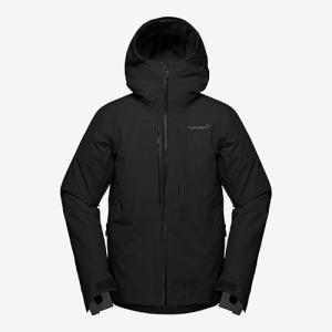 ノローナ ロフォテン ゴアテックスインサレーテッドジャケット 男性用 NORRONA Lofoten Gore-Tex insulated Jacket Caviar|lodge