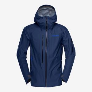 ノローナ ロフォテン ゴアテックスアクティブジャケット 男性用 NORRONA Lofoten Gore-Tex Active Jacket indigo night|lodge