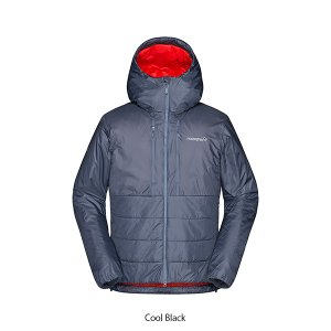ノローナ トロールヴェゲン プリマロフト100 ジップ フード 男性用 Norrona trollveggen Primaloft100 Zip Hood Cool Black|lodge