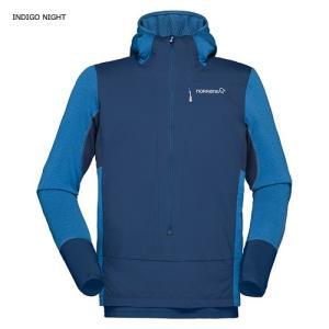 NORRONA 【bitihorn Alpha Hoodie Shirt 】 Limited ノローナ メンズ ビティホーン アルファ フーディー シャツ indigo night|lodge