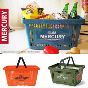 MERCURY マーキュリー マーケットバスケット 買い物カゴ 小物収納 小物入れ おしゃれ 籠 おもちゃ箱 キッチン小物入れ 収納ボックス アメリカン雑貨の写真