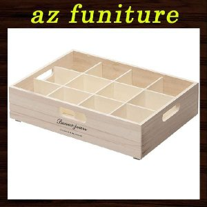 小物入れ 小物収納ケース 収納箱 収納ボックス 整理箱 仕切り 書類 パーテーションケース ナチュラルボックス 天然木 木材 子供部屋 キッチン リビング logical-japan