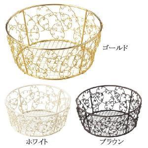 かご カゴ 籠 バスケット 店舗什器 小物入れ 小物収納ケース おしゃれ かわいい 可愛い アジアン シンプル ナチュラル 編み ワイヤー 丸型 ラウンド|logical-japan