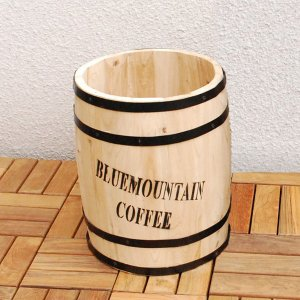 コーヒーバレル  コーヒー樽 ポットカバー プランターカバー インテリア  プランター 植木鉢 傘立て フラワースタンド 鉢カバー 木製 屋外 室内|logical-japan