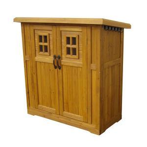 カントリー小屋 小 収納庫 木製収納庫 木製物置 屋外収納庫 ガーデン収納庫 ベランダ収納庫 倉庫 ストッカー 小屋 物置き 屋外 木製 おしゃれ|logical-japan
