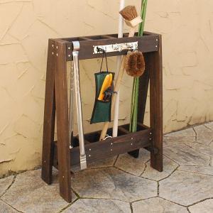 ツールスタンド ガーデンツール収納 ガーデンツールスタンド ガーデングッズ収納 小道具収納 ガーデンファニチャー 木製 おしゃれ   北欧|logical-japan