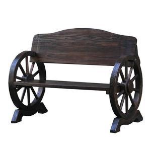 車輪ベンチ 1100 ガーデンベンチ ベンチ 長椅子 長イス ベンチチェア ガーデンチェア ガーデンチェアー 木製ベンチ 木製 車輪 屋外 ガーデン おしゃれ|logical-japan