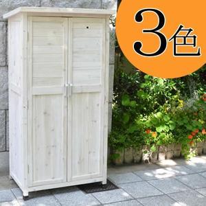 木製物置150 収納庫 木製収納庫 木製物置 屋外収納庫 ガーデン収納庫 ベランダ収納庫 物置き 屋外 3段 木製 ハイタイプ ホワイト 白 おしゃれ|logical-japan