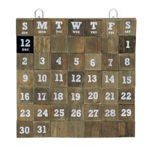 LIFE WITH E.D.G.E WOOD MAGNET CALENDAR L カレンダー 万年カレンダー 永年カレンダー 壁掛けカレンダー インテリア雑貨 壁飾り マグネットカレンダー
