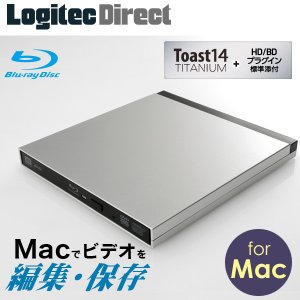 当店全品エントリでP14倍 WEB限定パッケージ USB3.0対応9.5mmポータブルブルーレイドライブ(for Mac) LBD-PUB6U3MSVW