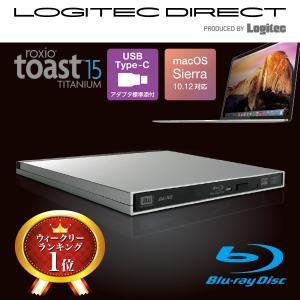Mac専用USB3.0ポータブル9.5mmBDドライブ Roxio Toast15 Titanium付属 LBDW-PUD6U3MSV|logitec