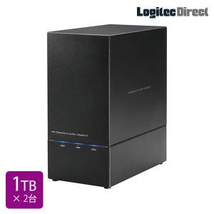 外付けHDD 1TB×2台 USB3.1(Gen1) / USB3.0 WD Red搭載 RAID対応 日本製 ロジテック LHD-2BRH20U3R logitec