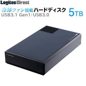 外付けHDD 5TB USB3.1(Gen1) / USB3.0 ファン付 日本製 ロジテック LHD-EG50U3F logitec