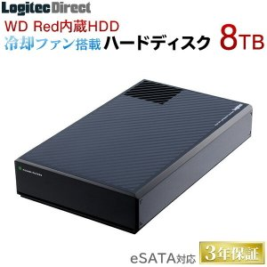 【予約受付中:2/上旬出荷予定】WD Red搭載 USB 3.0/eSATA 外付型ハードディスク 8TB LHD-EG80TREU3F