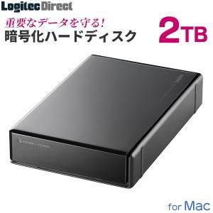 外付けHDD 2TB ハードウェア暗号化ハードディスク セキュリティー Mac用 USB3.1(Ge...
