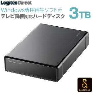 SeeQVault対応 外付けHDD ハードディスク 3TB テレビ録画 シーキューボルト PC再生ソフト付 3.5インチ USB3.1(Gen1) / USB3.0 LHD-EN30U3QSW|logitec