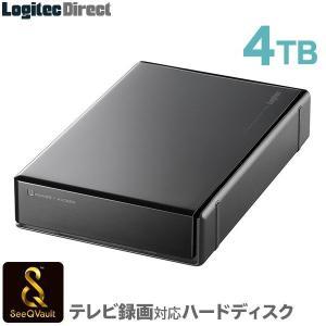 SeeQVault(シーキューボルト)対応 外付けHDD 4TB 3.5インチ USB3.0 テレビ録画専用 国産 省エネ静音 WD Blue搭載 ロジテック製 LHD-EN40U3QW|logitec