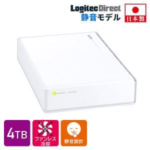 外付けHDD 外付けハードディスク 4TB テレビ録画 USB3.1(Gen1) / USB3.0 日本製 ホワイト PS4/PS4 Pro対応 LHD-ENA040U3WSH|logitec
