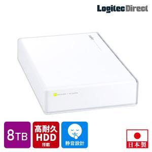 外付けHDD 外付けハードディスク 8TB USB3.1(Gen1) / USB3.0 WD Red WD80EFZX搭載 日本製 ホワイト ロジテック LHD-EN80U3WRWH|logitec
