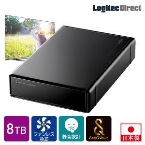 ロジテック SeeQVault 外付けHDD ハードディスク 8TB テレビ録画 テレビレコーダー ...