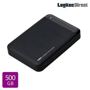 外付けHDD ポータブル 500GB USB3.0 ハードウェア暗号化ハードディスク セキュリティー 耐衝撃 Windows用 LHD-PBM05U3BS|logitec