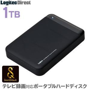 SeeQVault対応 外付けHDD ポータブルハードディスク 1TB テレビ録画 シーキューボルト 2.5インチ USB3.0 LHD-PBM10U3QW|logitec