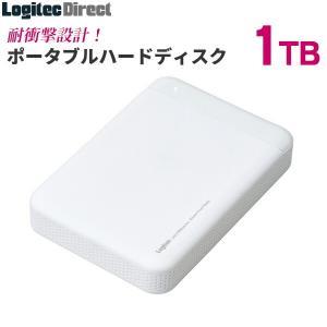 外付けHDD ポータブル 1TB USB3.0 耐衝撃 日本製 ロジテック LHD-PBM10U3WH|logitec