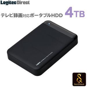 SeeQVault対応 外付けHDD ポータブルハードディスク 4TB テレビ録画 シーキューボルト 2.5インチ USB3.1(Gen1) / USB3.0 LHD-PBM40U3QW|logitec
