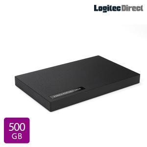外付けHDD ポータブル テレビ録画 500GB USB3.1(Gen1) / USB3.0 ハードディスク ロジテック LHD-PBR05U3BK|logitec