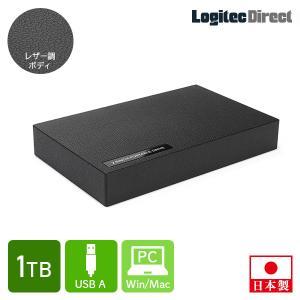 外付けHDD ポータブル テレビ録画 1TB USB3.1(Gen1)/3.0 ハードディスク ロジテック LHD-PBR10U3BK