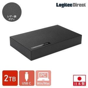 外付けHDD ポータブル 2TB USB3.1 Gen2 Type-C ハードディスク ロジテック LHD-PBR20UCBK logitec