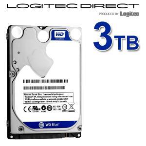 WD 製 Blue モデル 内蔵ハードディスク(HDD) 3TB 2.5インチ ロジテックの保証・無償ダウンロード可能なソフト付 LHD-WD30NPRZ|logitec