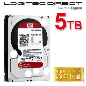 WD 製 Red モデル 内蔵ハードディスク(HDD) 5TB 3.5インチ ロジテックの保証・無償ダウンロード可能なソフト付 LHD-WD50EFRX|logitec